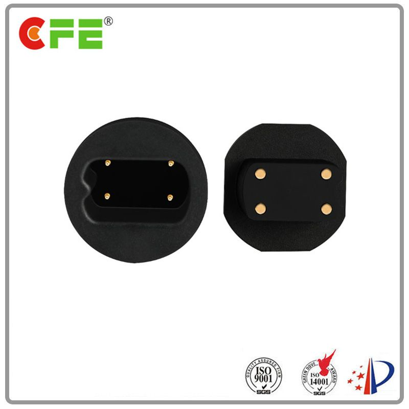 Round DC magnetic connector power charge for safe