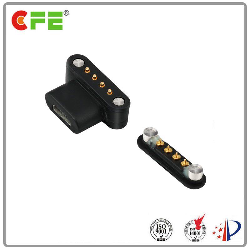 Magnetic pogo pin usb connector for medical equipment